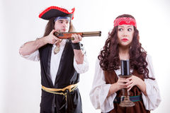 Pirate on white background Stock Photography