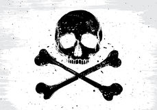 Pirate white flag Stock Photo
