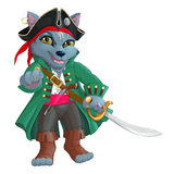 Pirate wolf Royalty Free Stock Photography