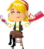 Pirate woman blond Royalty Free Stock Image