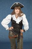 Pirate woman in hat Stock Photos