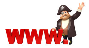 Pirate with WWW.sign Stock Photo