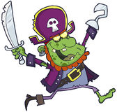 Pirate zombie  with a sword Royalty Free Stock Image