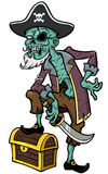 Pirate zombie Royalty Free Stock Photo
