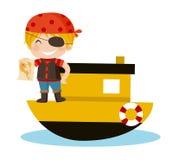 Piratea al muchacho ilustración del vector
