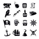 Piratea el icono stock de ilustración