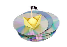 Pirated CD Stock Photo