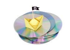Pirated CD Stock Photo
