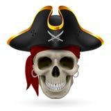 Piratee el cráneo Foto de archivo libre de regalías