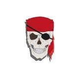 Piratee el cráneo Fotografía de archivo libre de regalías