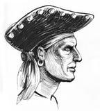 Pirateie o capitão ilustração royalty free