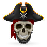 Pirateie o crânio Foto de Stock