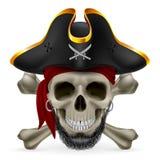 Pirateie o crânio Fotos de Stock Royalty Free
