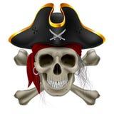 Pirateie o crânio Imagens de Stock Royalty Free