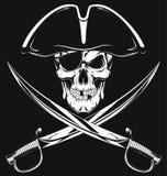 Pirateie o crânio Foto de Stock Royalty Free