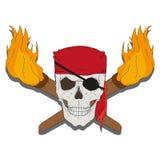 Pirateie o crânio Fotografia de Stock