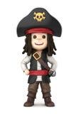 Pirateie o menino ilustração royalty free