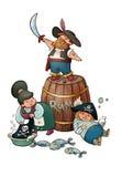 Piraten! Stock Fotografie