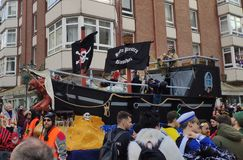 Piraten in Carnaval stock foto's