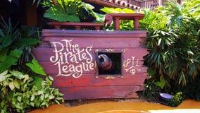 Piraten des karibischen Zeichens Lizenzfreies Stockfoto