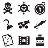 Piraten-Ikonen Lizenzfreies Stockbild