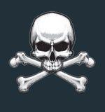 Piraten Jawless Schädel und Knochen vektor abbildung