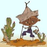 Piraten-Jungen-Vektor-Illustration Stockbild