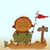 Piraten-Jungen-Vektor-Illustration Stockfotos