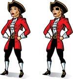 Piraten-Kapitän. Teil einer Serie. Stockbild