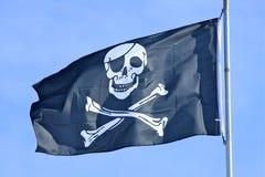 Piraten-Markierungsfahne Lizenzfreie Stockbilder