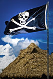 Piraten-Markierungsfahne Lizenzfreies Stockbild