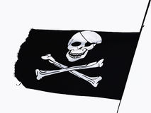 Piraten-Markierungsfahne Lizenzfreie Stockfotografie