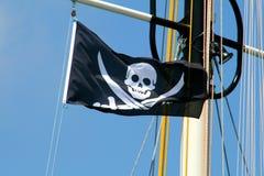 Piraten-Markierungsfahne Stockfotografie