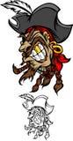 Piraten-Maskottchen-Zeichen Lizenzfreie Stockfotografie