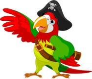 Piraten-Papagei Lizenzfreie Stockfotos