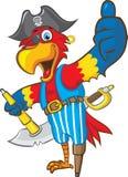 Piraten-Papagei Stockbild