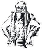 Piraten-Sankt b&w stock abbildung