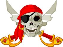Piraten-Schädel lizenzfreie abbildung