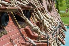 Piraten-Schiff im Park Stockfotografie