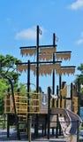 Piraten-Schiffs-Spielplatz stockbild
