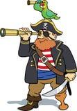 Piraten- und Papageienkundschaften Lizenzfreie Stockfotos