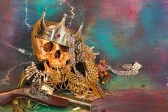 Piraten und Schatz Stockbilder
