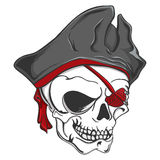 Piraten-Zombie-Schädel Lizenzfreies Stockbild