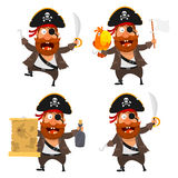 Piratencharakter Stockfoto