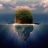 Pirateneiland royalty-vrije illustratie