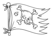 Piratenflagge Lizenzfreie Stockfotos