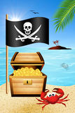 Piratenflagge Lizenzfreies Stockbild