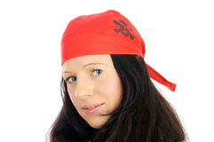 Piratenfrau Stockfoto