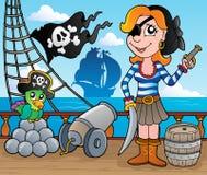 Piratenlieferungs-Plattformthema 8 Lizenzfreie Stockfotografie