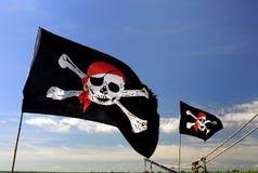 Piratenmarkierungsfahne Lizenzfreies Stockbild